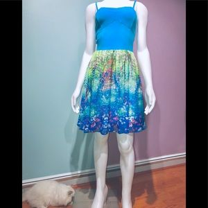 AERO • Mixed Media Watercolor Sundress / (S) NWT!